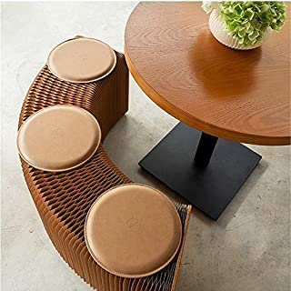 Home Furniture Softeating Modern Design Accordin Folding Paper Stool Sofa Chair Kraft Paper Relaxing Foot Living Dining Ro...