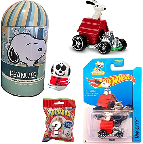 Dog House Snoopy Car Peanuts Die-Cast City Racer Bundled...