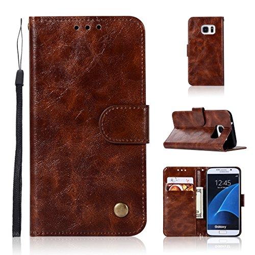 BeschermHoesje Case voor Samsung Galaxy S6, 5 inch / 12,7 cm, PU-leer, met vibratiesluiting, met 3 kaartvakjes Samsung Galaxy S6 5.1 Inch 1 x Polsband
