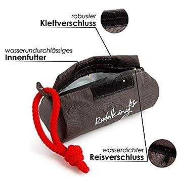 Rudelkönig Sac à nourriture pour chien – Dôme à rapporter pour l'éducation du chien – Robuste Dôme d'entraînement pour friandises (gris)