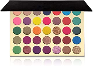 35 Color Eyeshadow Makeup Palette ,FindinBeauty Highly Pigmented Metallic Shimmer Natural Smokey Matte Eye Shadow Make up ...