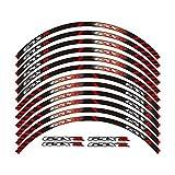 Etiqueta engomada de la Rueda 12 x Edición de Borde de Grueso Etiqueta de rontación Exterior Calcomanías de la Rueda for Todos GSXR 250 400 600 1000 750 GSXR1000R GSXR1000 GSXR600 750
