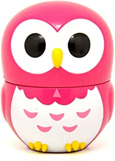 Golandstar Cute Cartoon Owl Timers Mini Size 60 Minutes Mechanical Kitchen Cooking Timer Clock Loud Alarm Counters Manual Timer (Rose)