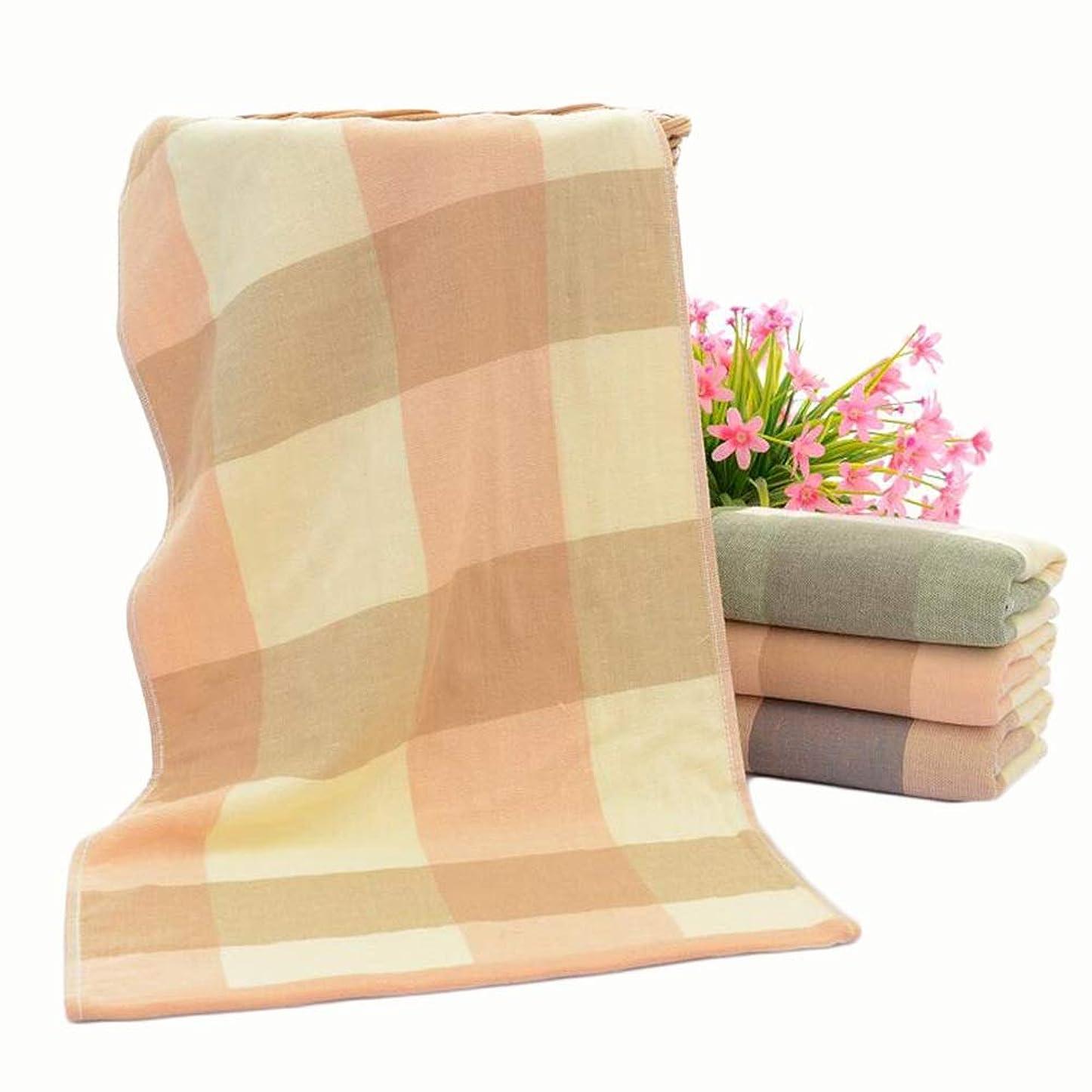 見出し仮説炭素CXUNKK 2PCS / LOT家庭用増粘吸水市松模様生地タオル綿タオル (Color : Pink, Size : 35*75)
