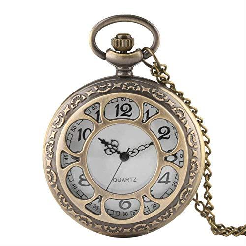 huangshuhua Reloj de Cuarzo con diseño de Bronce Antiguo de Moscú, Reloj de Bolsillo Retro Exquisito, Reloj de Recuerdo