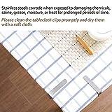 Blooven 8 Stück Tischtuchklammern Edelstahl, Tischdeckenklammer Tischabdeckungsklemmen Tischdecke Clips Tischtuch Clips - Silber - 6