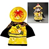 POPETPOP Dog Halloween Costumes Small-Pet Halloween Costume-Funny Dog Costumes Cat Outfit Chinese Emperor Cosplay Clothes for Puppy Dog Cats-Size L