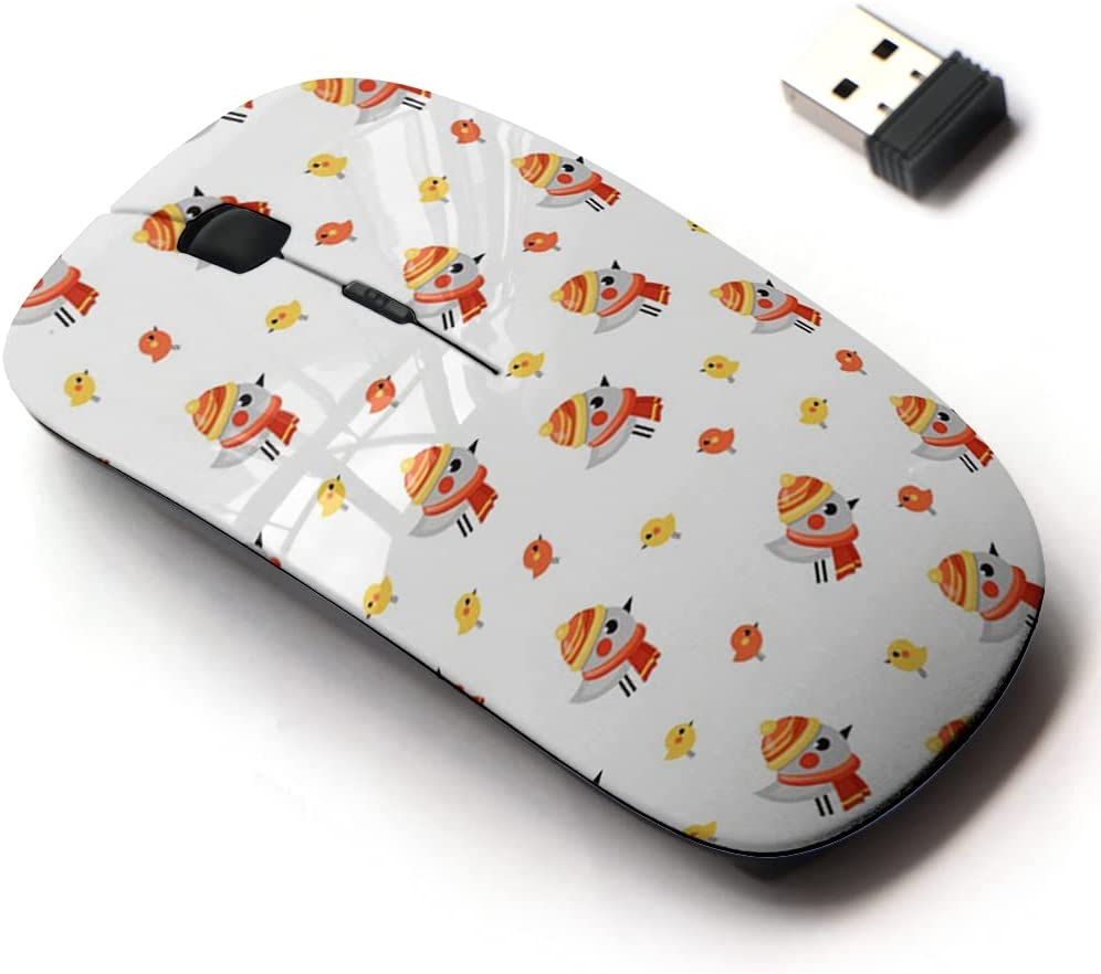 2.4G Wireless Mouse with Cute Pattern Mail order Laptops All for and low-pricing Design