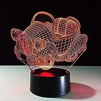 3DランプLEDナイトライトレトロスイングカーイリュージョンランプ16色変更装飾ランプ-3D幻想ランプのためのテーブルデコレーション子供の装飾完璧なプレゼント