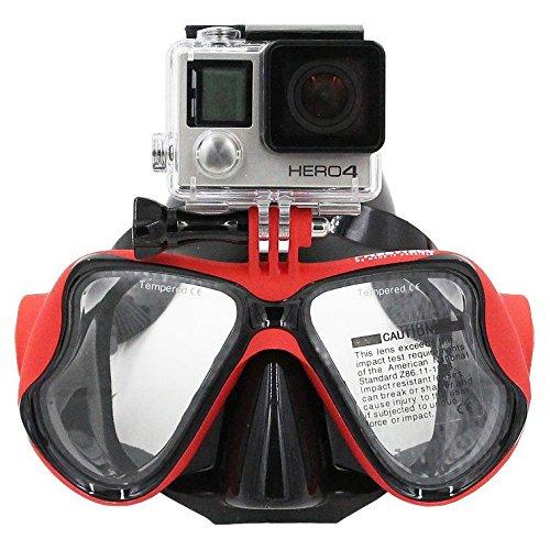 TELESIN Gopro Dive - Maschera per immersioni, con montatura compatibile con videocamere GoPro Hero3, 3+ e 4/4 Session