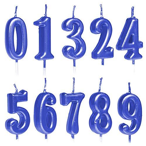 10 velas numéricas para tarta de cumpleaños, decoración de tartas, con números de 0 a 9, tonos brillantes, para fiesta de cumpleaños, celebración de fiestas, dorado/plateado/oro rosa 4