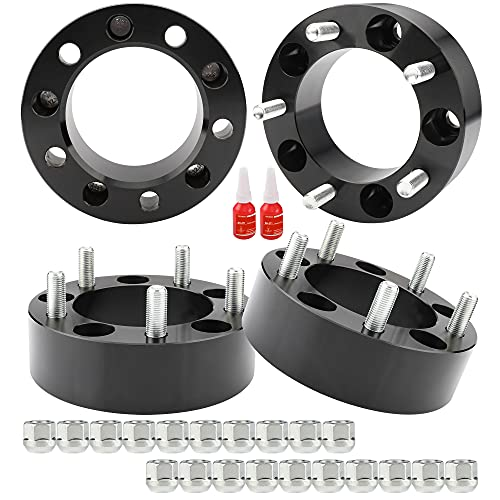 Richeer 5x5.5 Wheel Spacers for 2012-2018 Ram 1500, 4PCS 2 inch 5x139.7mm Forged Wheel Spacers, Center Bore 108mm with Studs M14X1.5 for Dodge Ram 1500