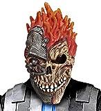 shoperama Cyborg Tête de mort Horreur Masque Latex Halloween Skull Cyber Zombie Robot Machine