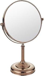 مرايا ماكياج قائمة على المكتب 8 بوصة مزدوجة الوجهين 1X التكبير الحمام فندق 360 مرآة فانيتي مرآة طاولة
