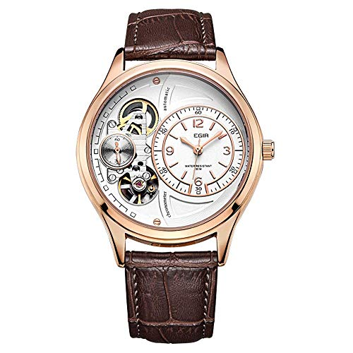 AZPINGPAN Relojes para Hombre, Cronógrafo Deportivo analógico de Cuarzo Minimalista, 3ATM Reloj de Pulsera con cinturón de Fecha automático para Negocios al Aire Libre Impermeable