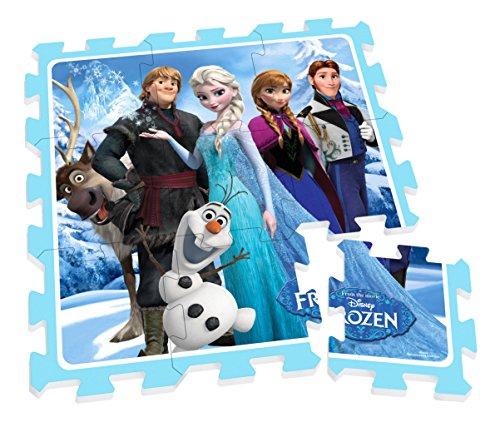 Stamp - Tp240001 - Puzzle de sol - TAPIS MOUSSE - La Reine Des Neiges - 88 X 88 Cm - 9 Pièces