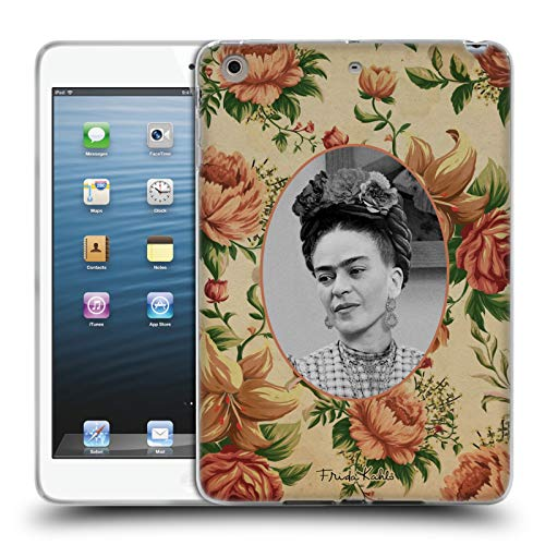 Official Frida Kahlo Floral Portraits And Quotes Soft Gel Case Compatible for Apple iPad mini 1 / mini 2 / mini 3