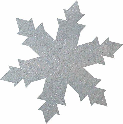 Petra S Bricolage-News 50 x Glace Cristal 40 mm en Feutre Gliter Couleur Streudeko, FLIZ, Bleu Glace, 18 x 12 x 3 cm