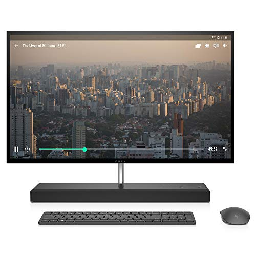 HP Envy 27-Inch All-in-One Computer, Intel Core i7-8700T, NVIDIA GeForce GTX 1050, 16GB RAM, 1TB Hard Drive, 256GB SSD, Windows 10 (27-b210, Ash Silver)
