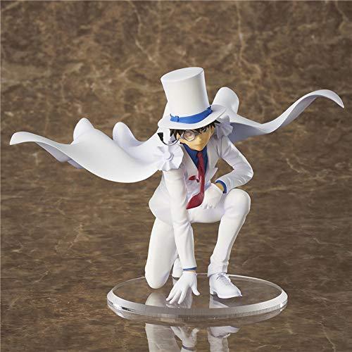 Detective Conan: Kid The Phantom Thief PVC Figura High 11cm  AKA: Kaitou Kiddo Kid  Rodillera Ver  Muñecas de escritorio Modelo de juguete Regalos para los amantes de los fanáticos de anime, escrit