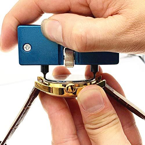 Oumefar Abridor de Caja Trasera de Reloj Llave de Tapa Trasera de Reloj Universal 2 Garras Abridor de Caja de Reloj de 0,5-2,1 Pulgadas para Profesionales