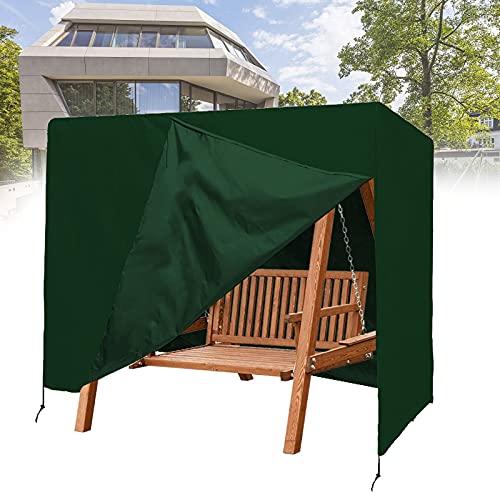 Aocet Funda para Columpio Balancin de Jardín Exterior de 3 Plazas, 220×125×170cm (Color : Green)