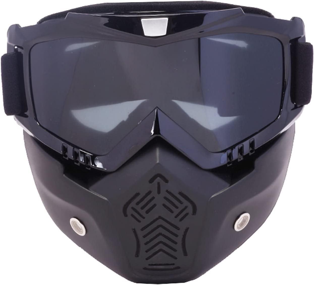 SCAYK Gafas de esquí Máscara Modular Mascarilla Detachable Boca Filtro Hombres Mujeres Ski Snowmobile Snowboard Gafas Snow Invierno Gafas de esquí Ski Bike Dirt Bike Goggles