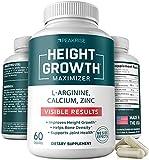 Best Height Growth Pills - Height Growth Vitamin Pills - L-Arginine Calcium Zinc Review