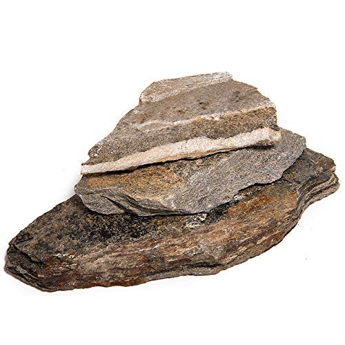 Landscape Patio Flagstone   500 Pounds   Natural Rock Pathway Stepping Stone Slabs for Gardens, Terrariums, Landscape Design, Driveway Pavers and Walkway Steppers (Red Mountain)