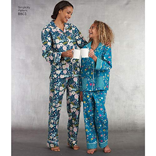 Simplicity US8803APattern 8803 Girls and Misses Set of Lounge Pants and...