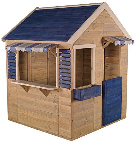 Wendi Toys M17   Casa de Juegos de Madera para Niños para Jardín Color Azul