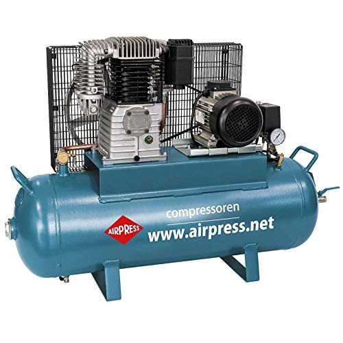 Airpress Compresor de aire comprimido 3 PS 2,2 kW 15 bar 100 l Caldera 400 V Pistón lubricado compresor