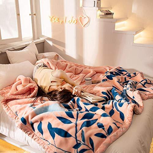 WANGZHEN Wohn- und Kuscheldecke Korallenvlies Bettwäsche Einteiliges Doppelbett Decke Matratze Flanell Matratze Cartoon wolldecken flauschig-D_150X200Cm2Kg