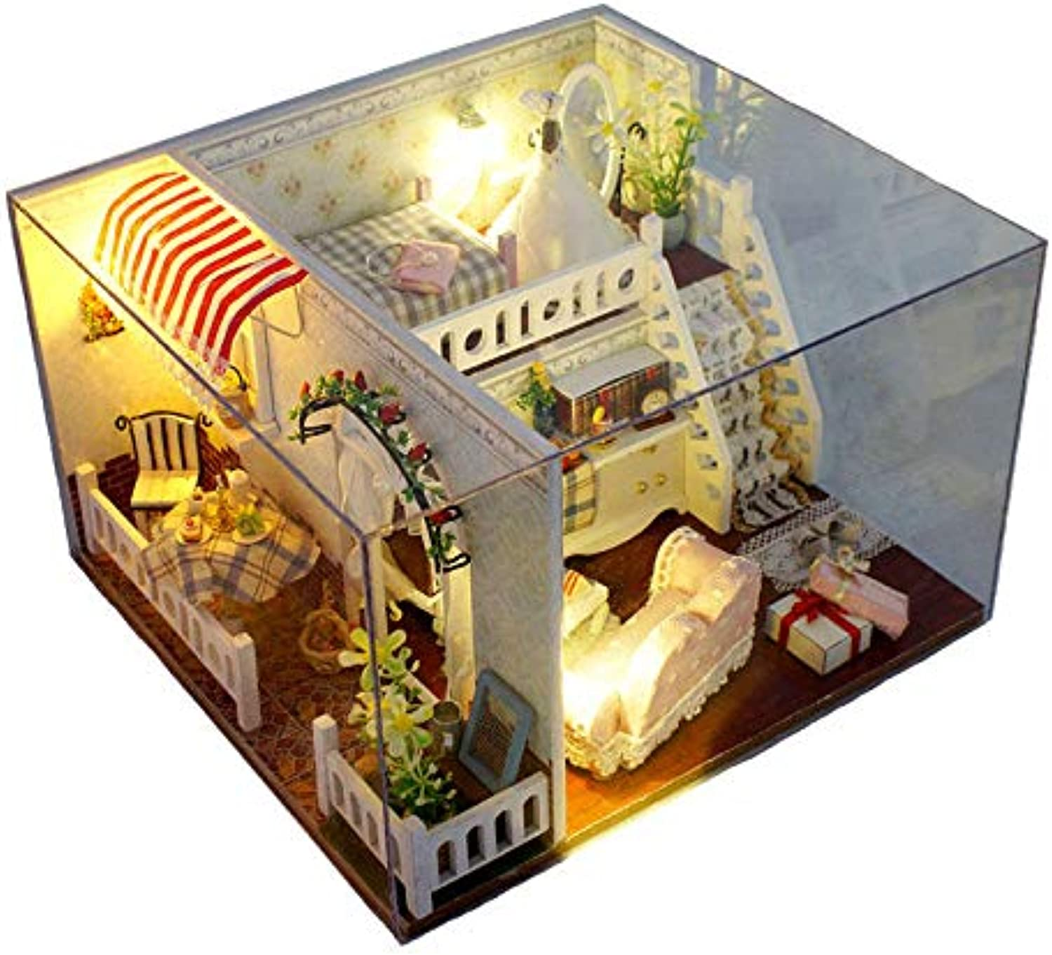T-Yu Miss Margaret's House with Cover Miniature Model Gift Collection DecorDolls & Stuffed Toys Doll House & Miniature1 x DIY Dollhouse Kit