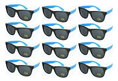 Edge I-Wear 12 Bulk 80s Party Sunglasses Neon Sunglasses for Adult Party Favors 5402RA/BU-12