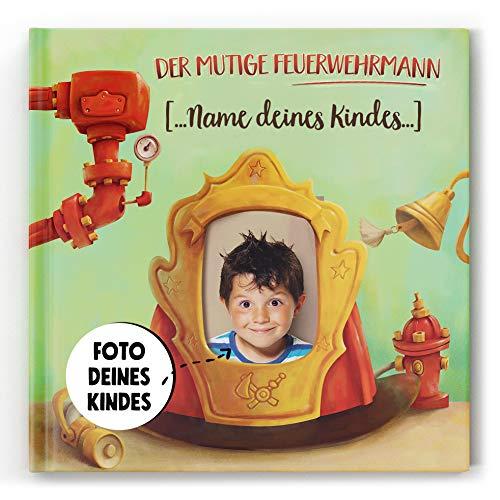 Personalisiertes Kinderbuch über einen Feuerwehrmann mit Photos und Namen des Kindes Personalisierbares Kinderbuch Personalisierbare Abenteuer-Bilderbuch Geschenk zum Geburtstag für Jungen ab 3 Jahre