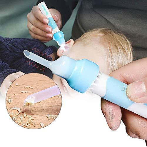 XOあ Herramienta de Kit de eliminación de Cera eléctrica al vacío con Tapa de Repuesto Suave 2, Herramientas de eliminación de Cera de succión eléctrica con luz LED para niños, bebés y Adultos