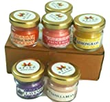 AVNID Mini Jar Scented Smokeless Candles Pack of 6 for Home Décor Christmas