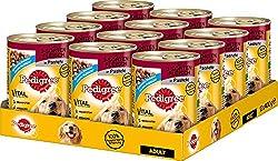 Pedigree Adult dog food 3 sorts of meat, 12 tins (12 x 400 g)