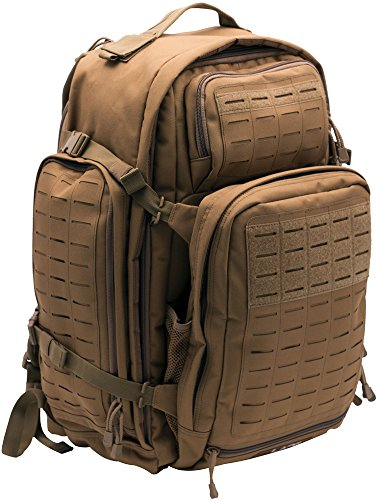 LA Police Gear Atlas 72H MOLLE Tactical Backpack for Hiking, Rucksack, Bug Out, or Hunting-Coyote