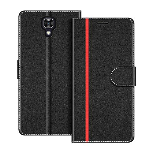 COODIO Funda LG X Screen con Tapa, Funda Movil LG X Screen, Funda Libro LG X Screen Carcasa Magnético Funda para LG X Screen, Negro/Rojo