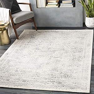 "Artistic Weavers Klaudia Area Rug 7'10"" Square, Light Grey"