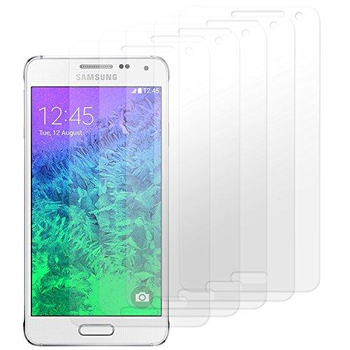 moodie Bildschirmschutzfolie für Samsung Galaxy Alpha [5 Stück] Premium Folien Kristallklar mit Anleitung für Samsung Galaxy Alpha
