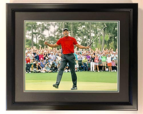 Legends Never Die Tiger Woods - 2019 Masters Champion - covid 19 (Double Framed Photograph coronavirus)