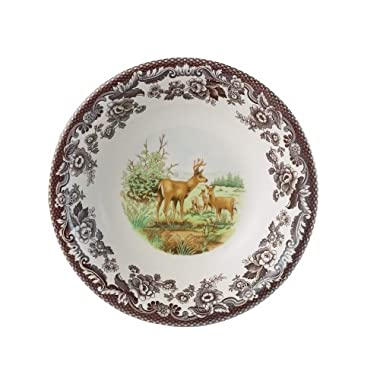 Spode Woodland American Wildlife Mule Deer Cereal Bowl