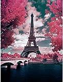 4Mybebe Diamond Painting 5D, Diamante Cuadrado Set de Arte, 30 X 40 cms Kit de Arte Decoracion 5D Diamond Painting, PARIS Torre Eiffel (Torre Eiffel 1)