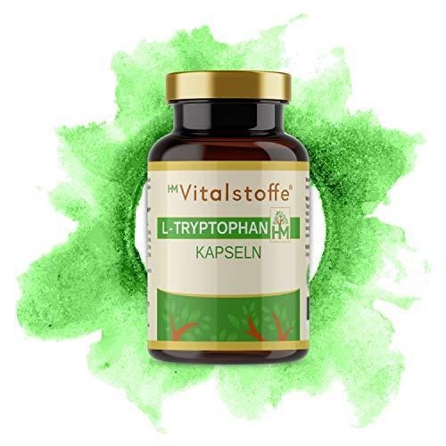 L-Tryptophan | Hochdosiert: 500 mg pro Kapsel | Zusätzlich: Magnesiumcitrat, Zinkcitrat, Vitamin B3 + B6 für höchste Bioverfügbarkeit | 60 Kapseln | OHNE Zusatzstoffe