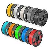 SUNLU ABS 3D Filament 1.75mm 10KG(22LBS) ABS Filament for Most 3D Printer Accuracy +/- 0.02 mm, 10 Colors(1KG x 10 Spools)