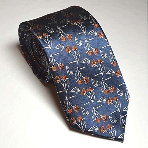 YSMLL Corbata: Corbata de algodón con Estampado Floral y Corbata for Hombre, Ideal for Bodas, Novios, Padrinos de Boda, Bailes