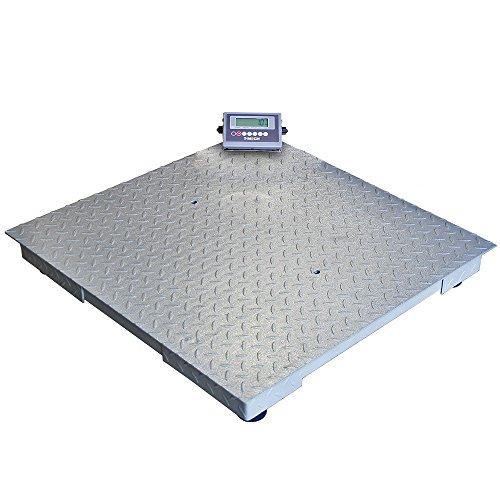 T-Mech - Bilancia Industriale per Pallet 3000kg 120cm x 120cm & Display LCD